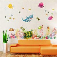 Wandtattoo Wandsticker Wanddeko Aufkleber Hai Meer Fisch  Kinderzimmer