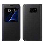 Tasche Hülle Cover Flip für Samsung Galaxy S7 Schwarz