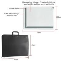 Zeichenplatte Parallel-Zeichenschiene A3 Rapid mit Tasche 51x36.5cm