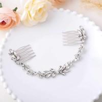 Silberfarbener Reben Haarschmuck für Frauen und Mädchen Brautschmuck