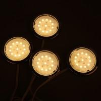 Regalleuchten Set LED Schrankleuchte warm-weiss 4x4W