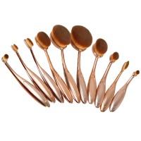 Oval Make Up Pinsel,10 Stück Zahnbürste geschwungene Make up Pinsel