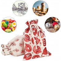 24pcs Geschenkboxen Leinen Tüten Geschenkverpackung Kissen