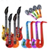 Musikalische Instrumente 12Stk.Spielzeug für Party Prop aufblasbar