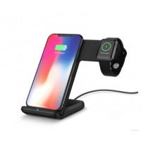 Ladegerät Dock Halter Wireless Charger Ständer 2in1 für iWatch iPhone