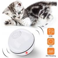 Katzenspielzeug Ball Katzenball mit LED Licht USB Wiederaufladbar