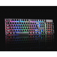 Gaming Tastatur LED Illuminated mit 3 einstellbarer Hintergrundfarben