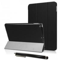 Hülle für iPad 9.7 Zoll 2017, Ultra Slim, inkl. Touch Pen, schwarz