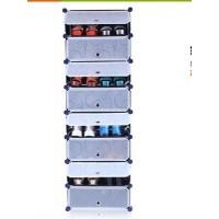 DIY 8 Ebenen Schuhregal Kleiderschrank Standregal Wäscheschrank Garderobe