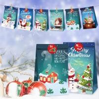 24 Stück Weihnachten Geschenktaschen Papiertüte Geschenkbox Partytasche
