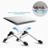 Laptopständer Notebook Ständer Tabletständer Höhenverstellbar silber
