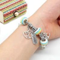 Armband Set Schmuck Bastelset Basteln Metallperle Mädchen Geschenkset