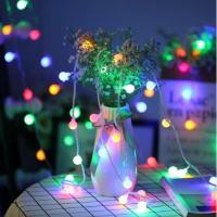 Lichterkette LED Kugelform batteriebetrieben Partybeleuchtung 10m