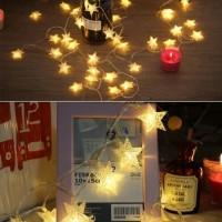 Lichterkette LED Lampenketten Sternform 10m für Weihnachtsbeleuchtung