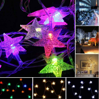 LED Sternform Lichterkette 10m 80LED batteriebetrieben f. Weihnachten