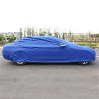 Auto Schutzhülle Autoschutzdecke Schutzdecke Gr. L silber/blau 240T