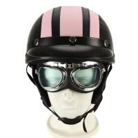 Motorradhelm Motorrad-Sturzhelm pink  mit UV-Schutzbrillen Visor