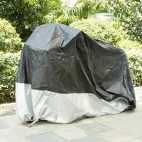 Motorradplane Abdeckplane Cover Roller Regenschutz Wetterdicht Silber