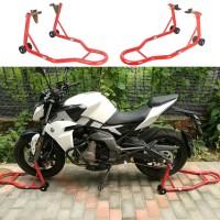 Montageständer Motorradheber Set Vorder- und Hinterrad 2er bis 300kg