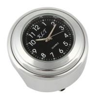 """Motorraduhr Motorrad Lenker Uhr schwarz weiss Aluminium 7/8 """""""
