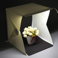 Lightbox Fotostudio Fotozelt Fotografie Beleuchtung mit LED Leuchte