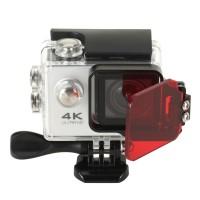 Rot Filte für GoPro Hero 3+4 aus  Alulegierung / PC Schwimm Rotlichtfilter Metallische Rahmenleiste