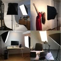 Tageslicht Studioleuchten Fotolicht mit 85W Fotolampe Tragetasche