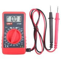 Mini Kompakt LCD Strommesser Multimeter Voltmeter Messgerät Voltmeter Strom Amperemeter Transistor Rot