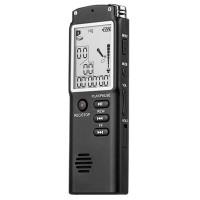 8GB Diktiergerät Aufnahmegerät Audio MP3 Player, LCD schwarz