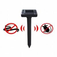 Maulwurfabwehr 2pcs Solar Tiervertreiber für Haus und Garten 5w 12v