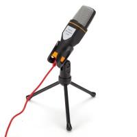 Kondensator Aufnahme Mikrofon mit Ständer Set 3,5mm f. Computer Laptop