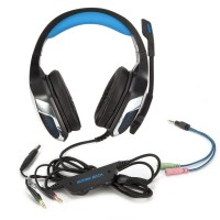 Headphone Gaming Headset Kopfhörer für PS4 Xbox mit Mikrofon LED Light