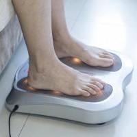 Fussmassagegerät Fussmassager Wärmefunktion 18 Massageköpfen Silber
