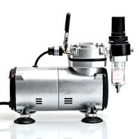Airbrush Komplett Set Druckluft Compressor mit 2 Pistolen