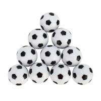 10tlg.Tischfussball Tischkicker Kickerfussball Kicker Ball Schwarz/weiss 31mm