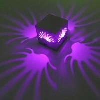 Wandlampe Wandleuchte LED 3W Lila mit Montageschrauben