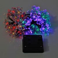 Solar LED Lichterkette Weihnacht Beleuchtung 7m 50 LEDs bunt