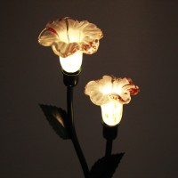 Solar Gartenleuchten Lampe 2 LED Solar Glas 1,2V Lichtsensor Solarlampe für Rasen+Garten