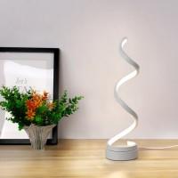 Spiral LED Tischlampe Nachttischlampe mit Kabel 24W für Schlafzimmer