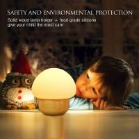 Nachttischlampe Nachtlampe LED Baby Nachtleuchte Pilz 16 Farbwechsel