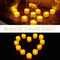 12pcs Led flammenlose Teelicht elektrische flackernde Kerzen weiss