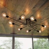 Deckenleuchte 8-flammig Deckenlampe Kronleuchter Licht Industriellampe