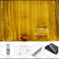 USB Lichterkettenvorhang 300 LEDs für Partydekoration Schlafzimmer