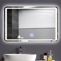 LED Badezimmerspiegel Beleuchtet Badezimmerspiegel mit Touchschalter