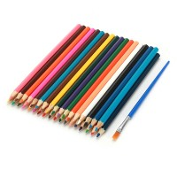 36er Buntstifte Set Farbstifte mit Pinsel und Metalletui