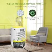 Luftentfeuchter Lufttrockner Flüsterleiser Luftreiniger Mini 3in1 25W