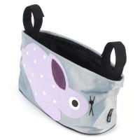 Kinderwagen Tasche grau mit lila Kaninchen Hängen Tasche wasserdicht