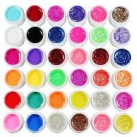 UV Gel 72 x 5ml Set Color Mischung Farbgel Glitze Bling Nagel Nail Art Nagelstudio Nägeln Nagelgel Colorgel