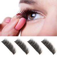 Wimpern Magnetic dual 3D Widerverwendbare Magnetic False Eyelashes