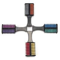 Haarkreide 2in1 Temporär Kamm 8 Farben Haarfarbe Haarfärbemittel